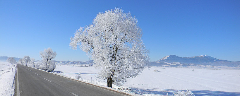 Гатачко поље, зима